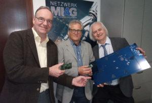 Dieter Bauernfeind von Elec-Con, Uwe Linder von Lin-Tech und Professor Dr. Robert Bösnecker von der THD