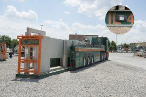 Digitaler Ladungsträger der Weber Betonwerke beim Verladen