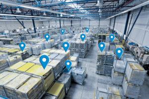 Lagerhalle mit Asset Tracking