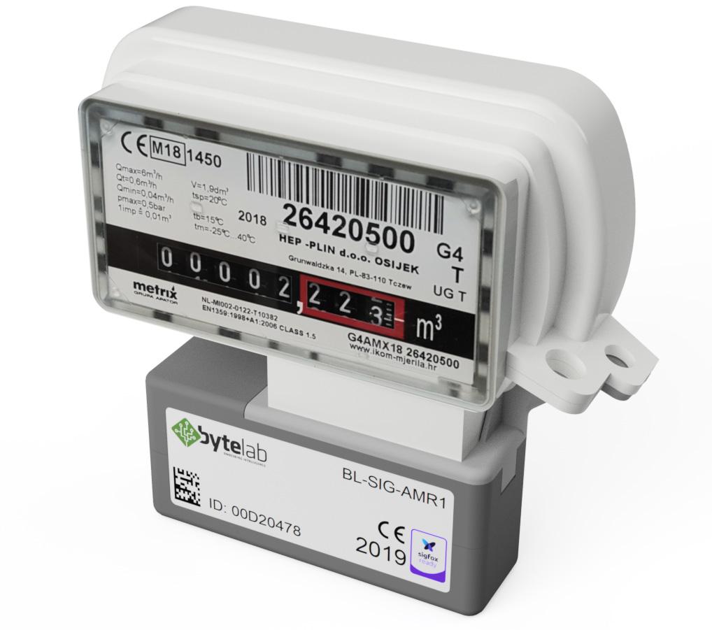 Ablesegerät für Gaszähler des Energieversorgungsunternehmens HEP-Plin in Kroatien
