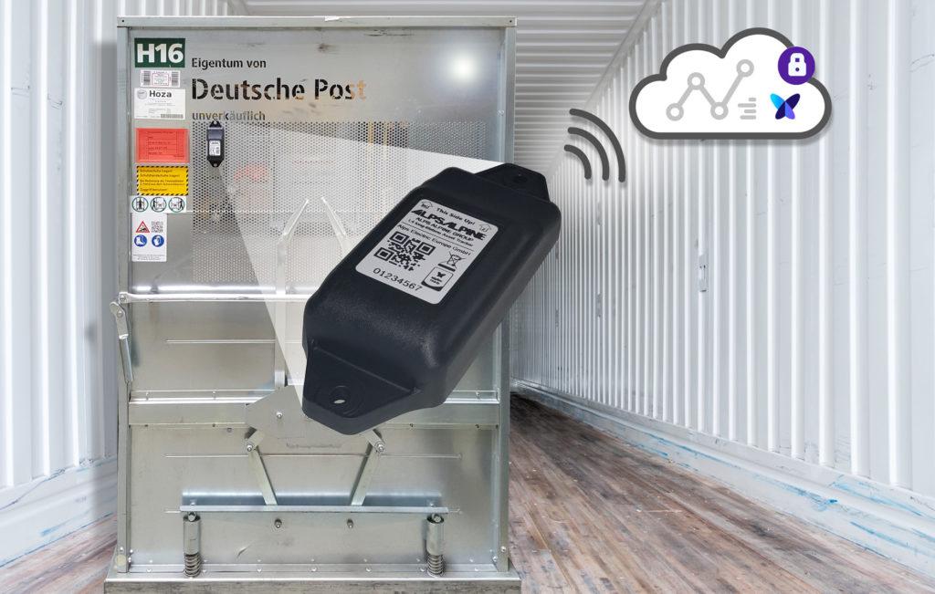 Deutsche Post DHL Container mit Logistik Tracker